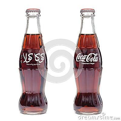 Coca cola contour bottle Editorial Image