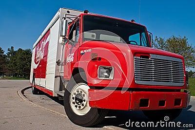 Coca Cola delivery truck Editorial Image