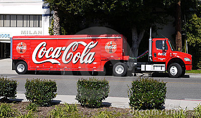 Coca Cola delivery truck Editorial Stock Image