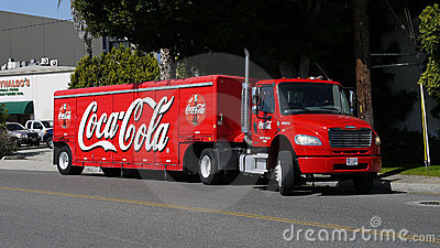 Coca Cola delivery truck Editorial Image