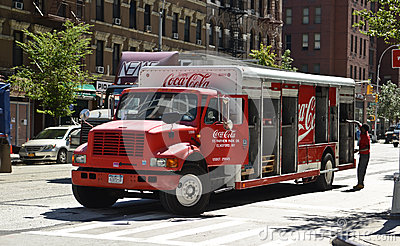 Coca Cola delivery truck Editorial Photo