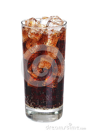 Free Coca Cola Drink Glass With Ice Cubes Isolated On White Royalty Free Stock Photography - 57156807