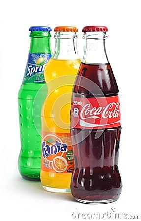 Coca cola, fanta, sprite Editorial Photo