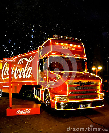 Coca cola preston Editorial Stock Image