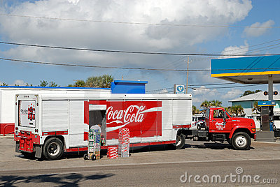 Coca Cola Truck Editorial Image