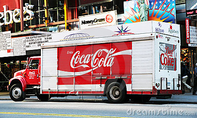 Coca Cola Truck Editorial Photo
