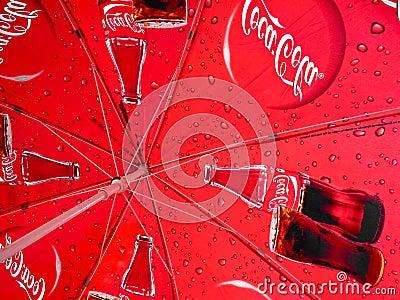 Coca Cola umbrella Editorial Image