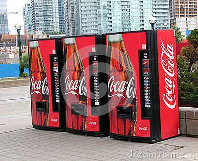 Coca Cola Vending Machine Editorial Photography