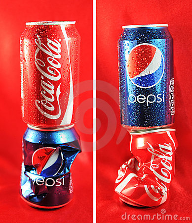 Free Coca Cola Vs. Pepsi Stock Photography - 18544532