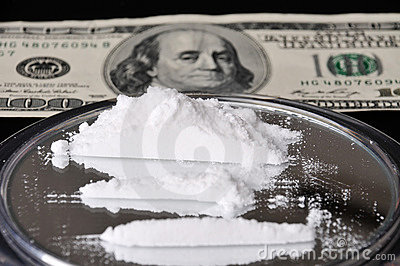 Cocaine and one hundred dollar