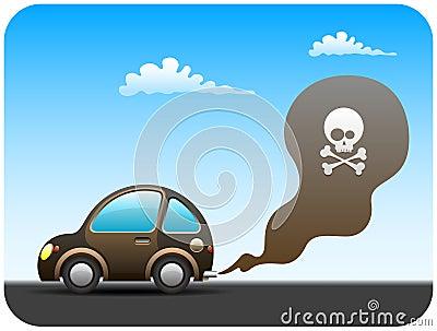 Coche de la contaminación