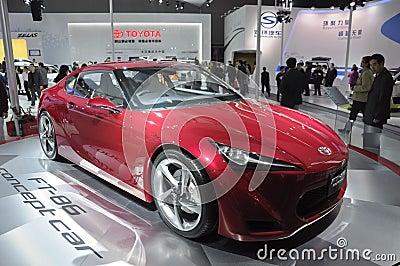 Coche del concepto de Toyota FT-86 Foto editorial
