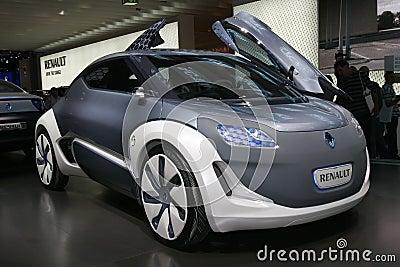 Coche eléctrico del concepto de Renault Foto editorial