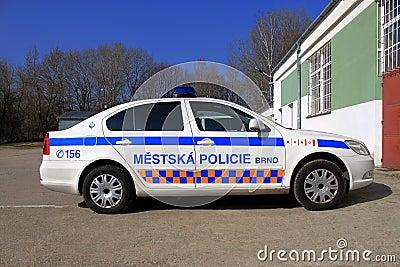 Coche policía Foto editorial