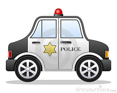 Coche policía de la historieta
