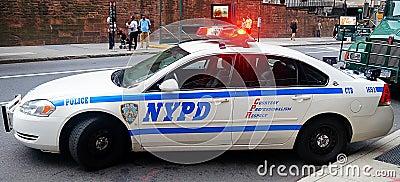 Coche patrulla de NYPD Imagen de archivo editorial
