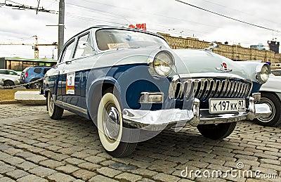Coche retro ruso Volga Imagen de archivo editorial