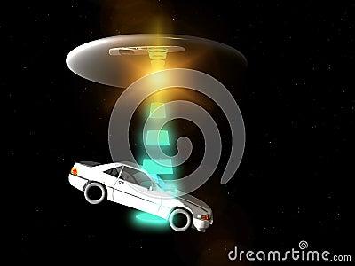 Coche y UFO 65