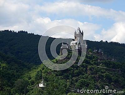 Cochem castle on mountain top