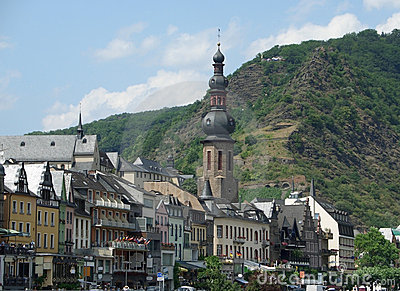 Cochem at river Moselle