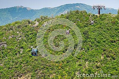 Coches del ferrocarril aéreo de Hakone