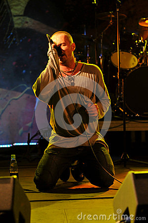 Cochese - rock band on stage Editorial Stock Photo