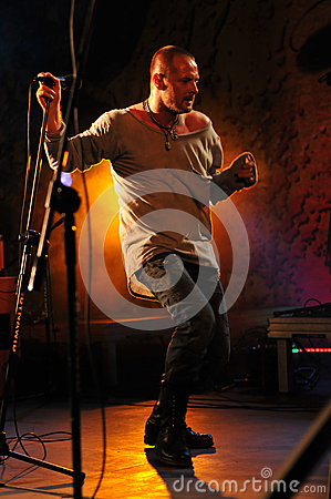 Cochese - rock band on stage Editorial Stock Image