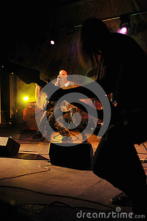Cochese - rock band on stage Editorial Photo