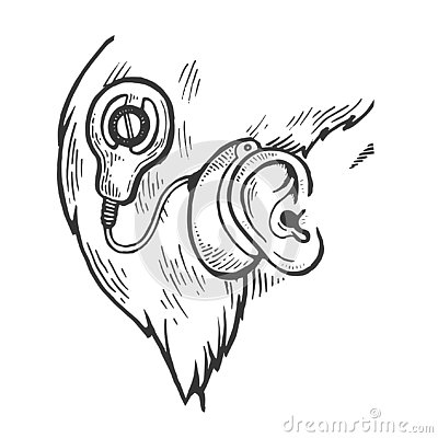 Free Cochlear Implant Engraving Vector Illustration Royalty Free Stock Photos - 130756238