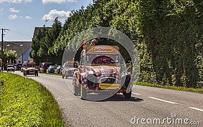 Cochonou CRS durante il Tour de France Fotografia Stock Editoriale