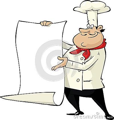 Cocinero de la historieta