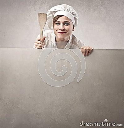 Cocinero de la mujer