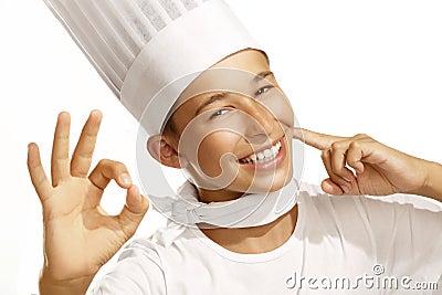 Cocinero del muchacho