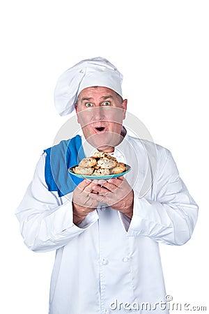 Cocinero emocionado