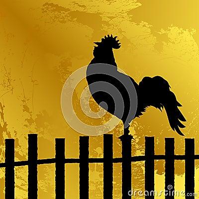 Cock silhouette