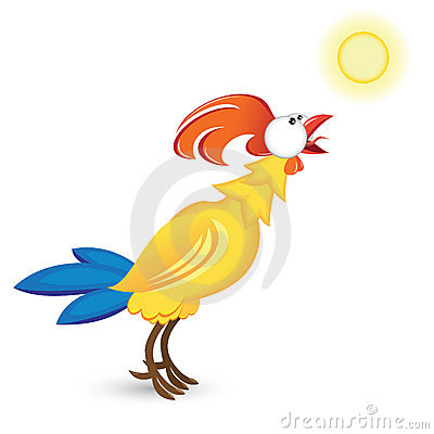 Cock and the sun
