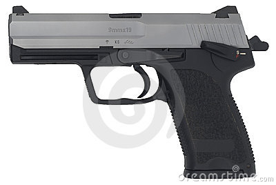 Cocked And Locked Handgun Royalty Free Stock Photo - Image: 8950405