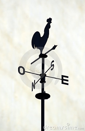 Cockerel motif weather vane