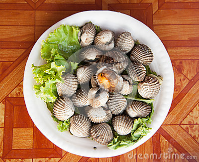 Cockles grill,Thai style seafood