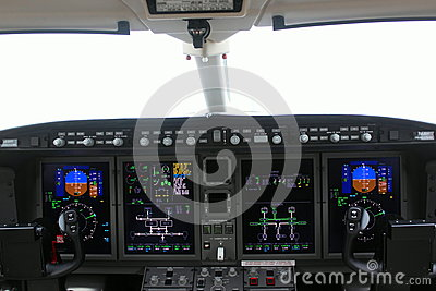 Cockpit of an airplane and board Editorial Image