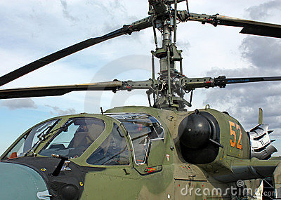 Cockpit of combat helicopter