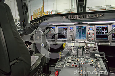 Cockpit of Embraer Editorial Photo