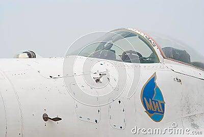 Cockpit of MiG-29 jet Editorial Image