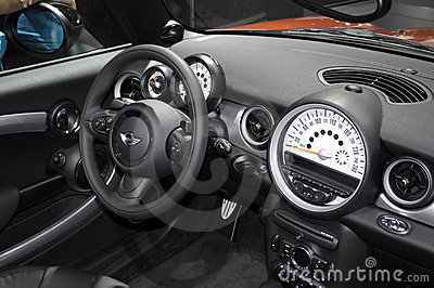 Cockpit of MINI CABRIO Editorial Stock Image