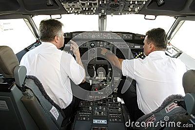 Cockpit pilots Editorial Image