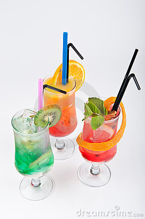 Fresh cocktails isolated