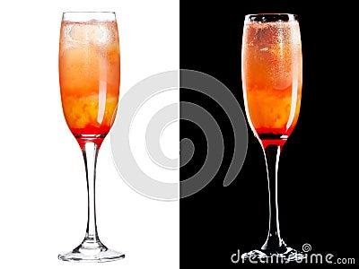 Cocktail alcoolique froid