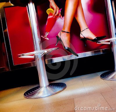 Free Cocktail And Legs Stock Photography - 2014042