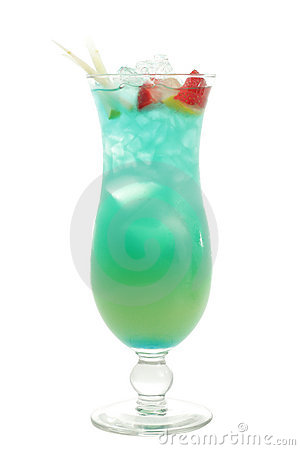 Free Cocktail - Blue Hawaii Stock Images - 5570854