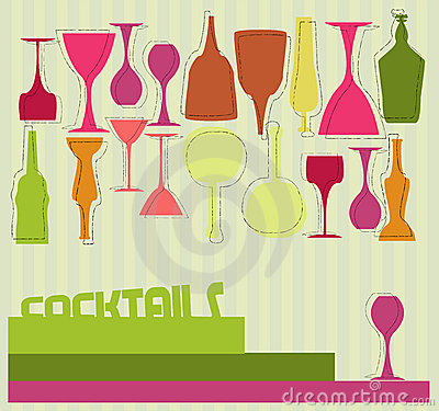 Cocktail card Vector Illustration